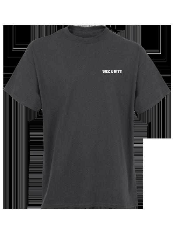 T-shirt Noir Marquage Sécurité.