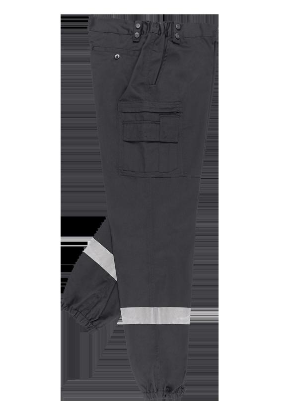 Pantalon F1 Mat Noir Bandes Rétro.
