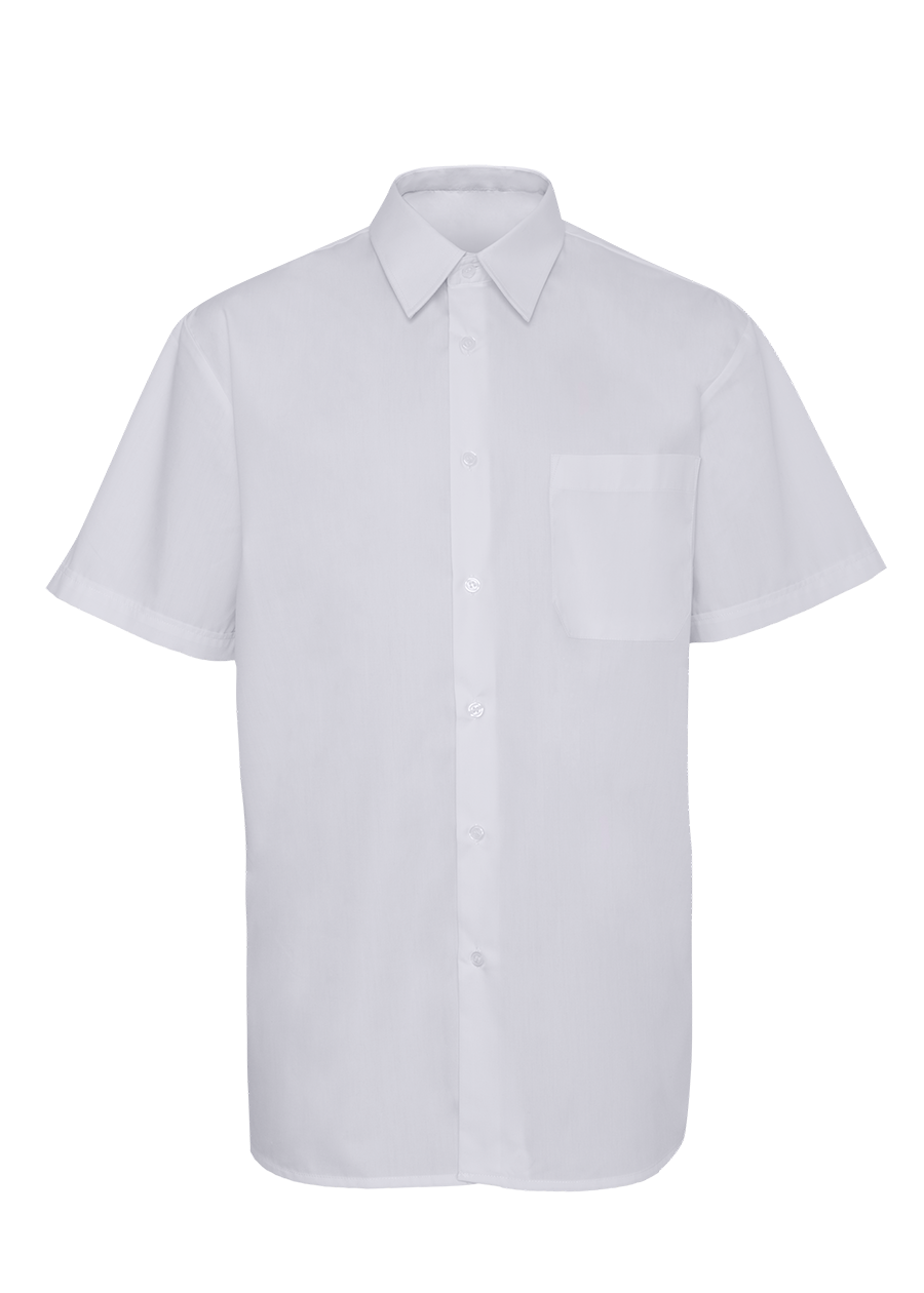 Chemise Manches Courtes Blanche Homme.