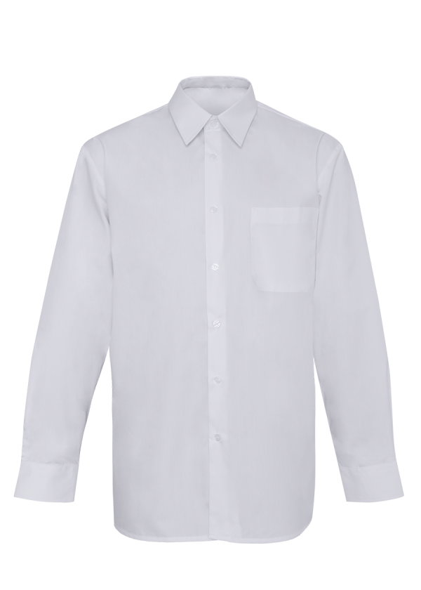 Chemise Manches Longues Blanche Homme.