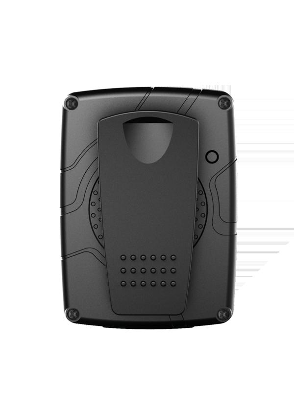Caméra Mobile D'intervention sans écran vue de derrière.