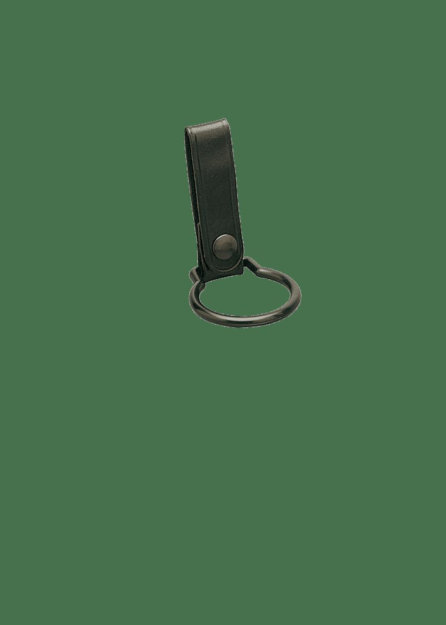 Anneau Porte Lampe en cuir et boucle plastique.