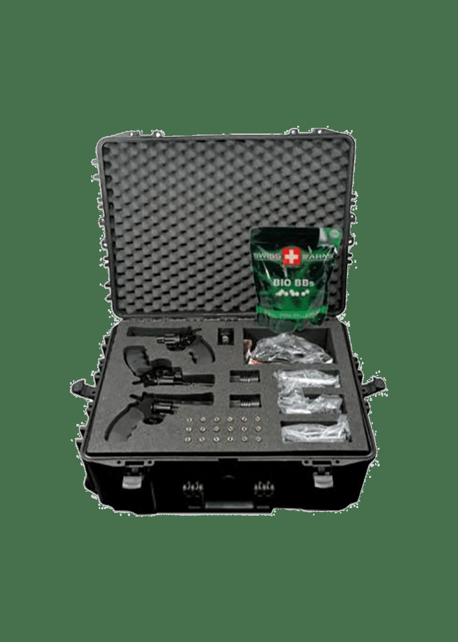 Kit Colt Python Entrainement contenant 3 répliques d'arme.