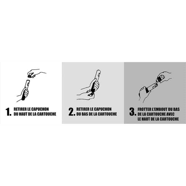 Mode d'emploi Cartouche Extinctrice de Feu.